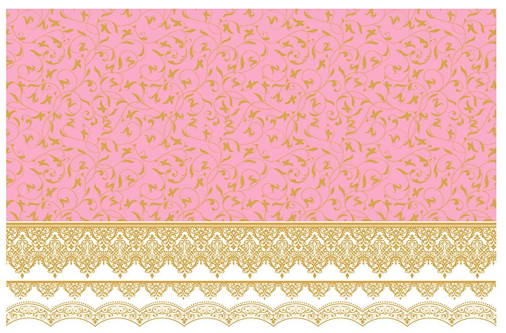 【ガラス用】アラベスク転写紙 ピンク