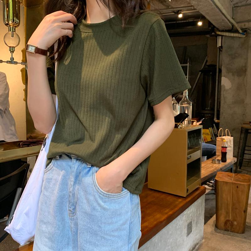 〈リクエストアイテム〉リブニットTシャツ 【Rib knit T-shirt】