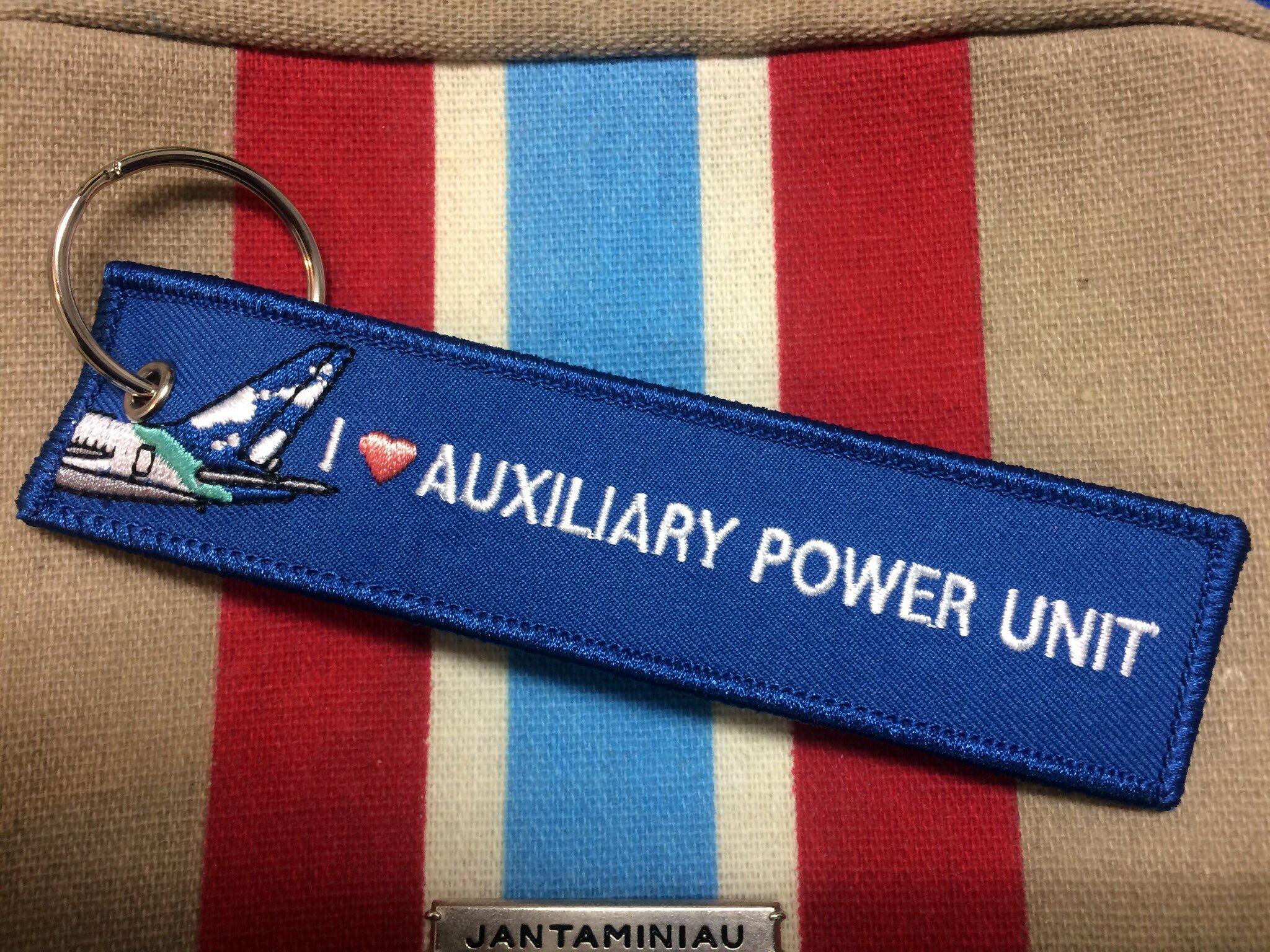 空野家のなかまたち/I LOVE AUXILIARY POWER UNIT APUにはまりたいタグキーホルダー
