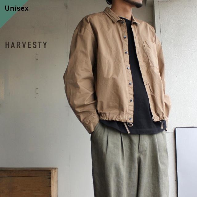 HARVESTY コットンツイルシャツブルゾン ベージュ A31909