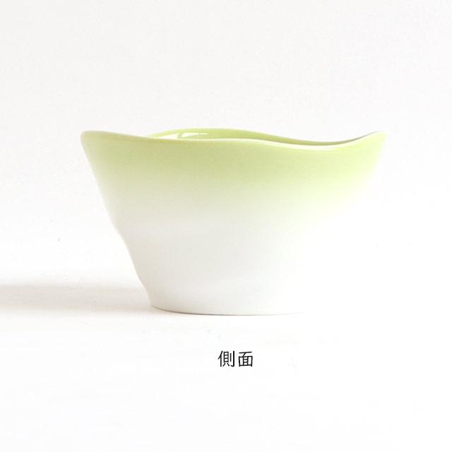 【2959-2780】ろくべい小鉢(口径9.0×高さ5.2cm) ぼかし若草