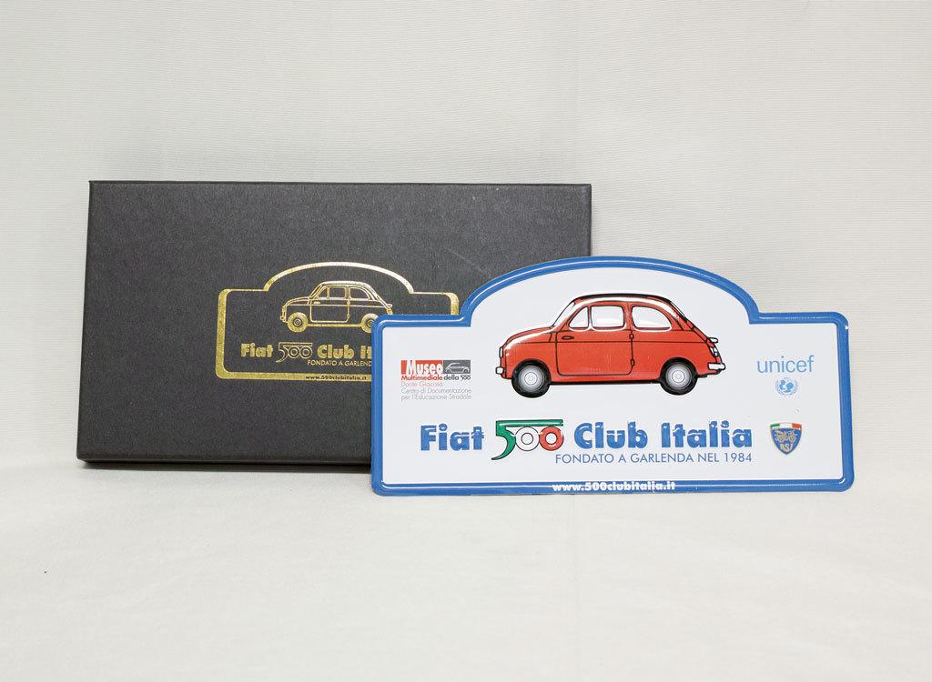 FIAT 500 CLUB ITALIA プレート