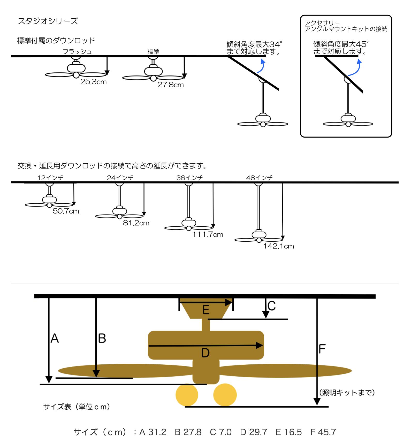 スタジオシリーズ 照明キット無【壁コントローラ・24㌅61cmダウンロッド付】 - 画像2