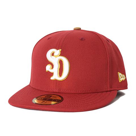 STANDARD CALIFORNIA #NEW ERA × SD 59Fifty Logo Cap Red