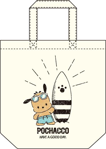 ポチャッコ cafe 限定コラボトートバッグ(サングラスタイプ)