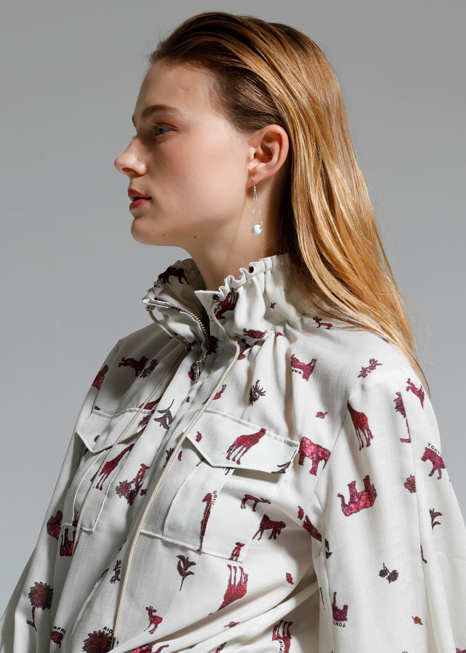 ANIMAL COCOON BLOUSON