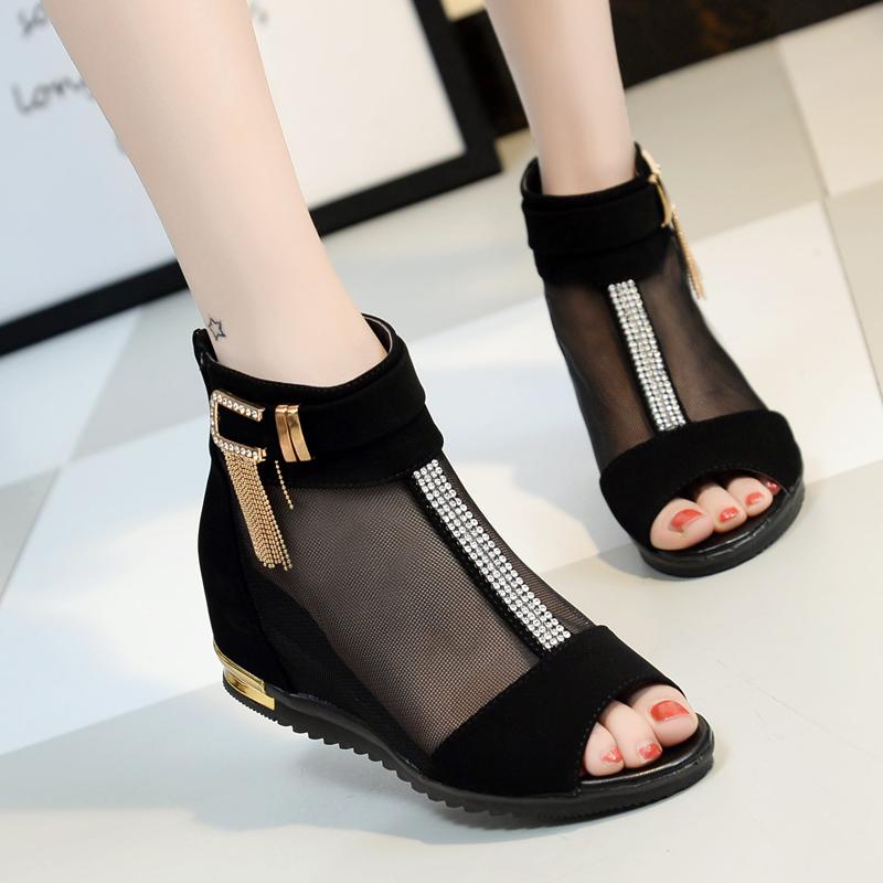 【shoes】ファッション切り替えオープントゥサンダル20496148