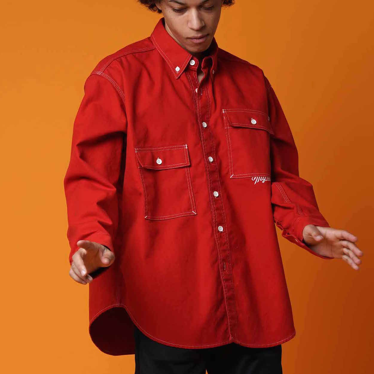 OVER SIZE SHIRT / RED - 画像2