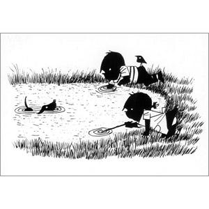 ポストカード 池の中(FO_PO_10124)