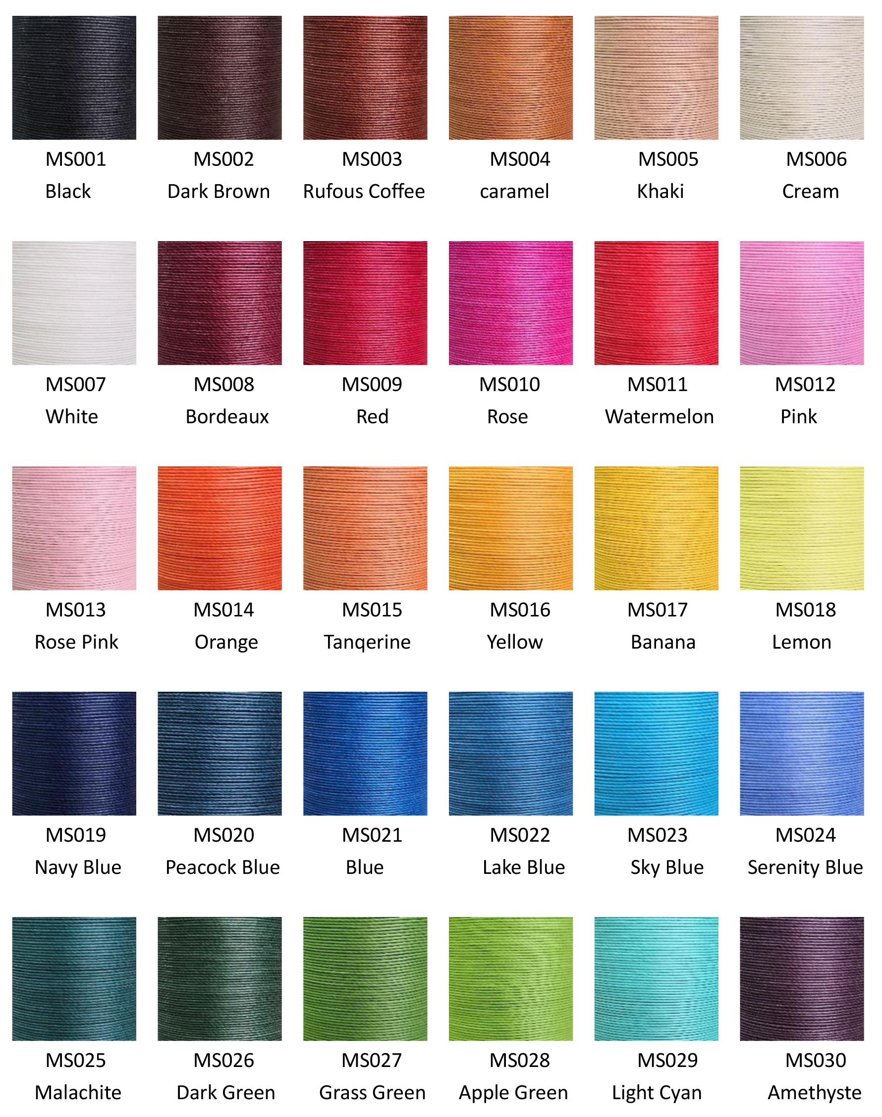 Yue Fung Button 0.65mm Waxed Linen Thread