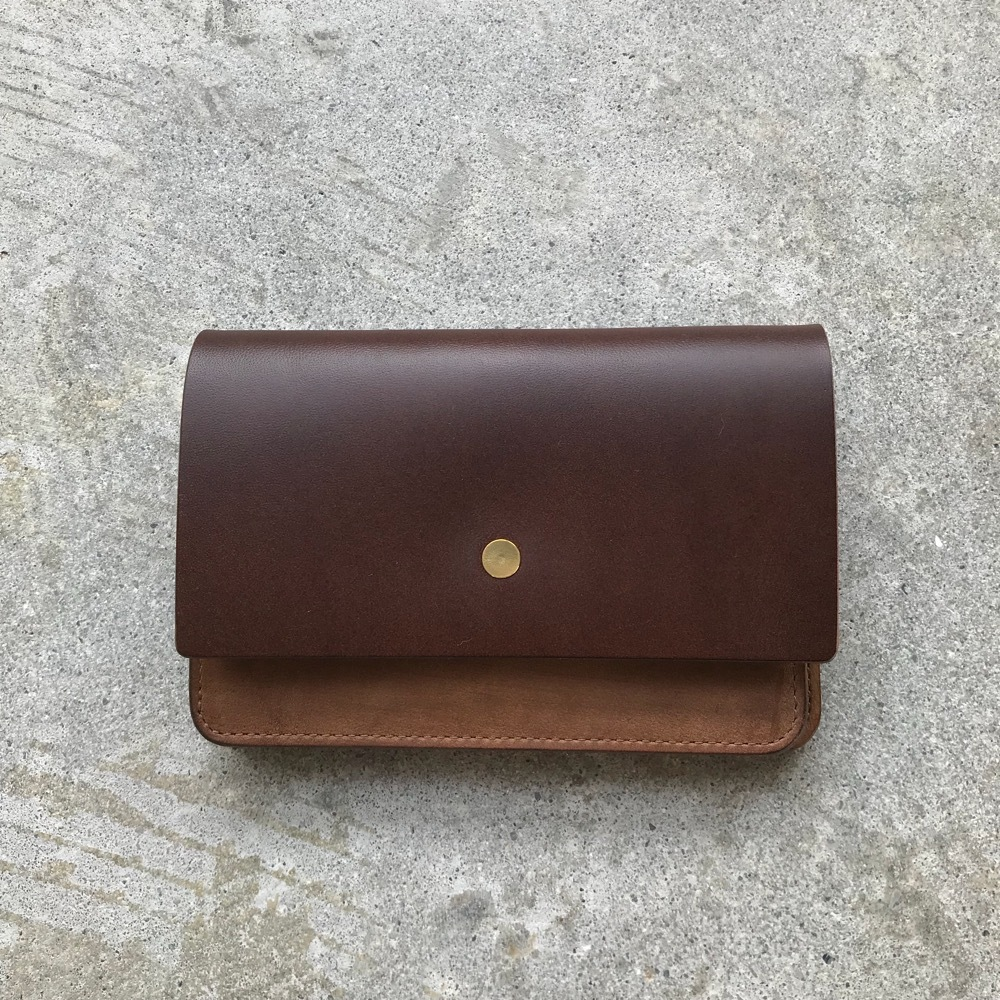 forme Hand wallet combi Buttero choco