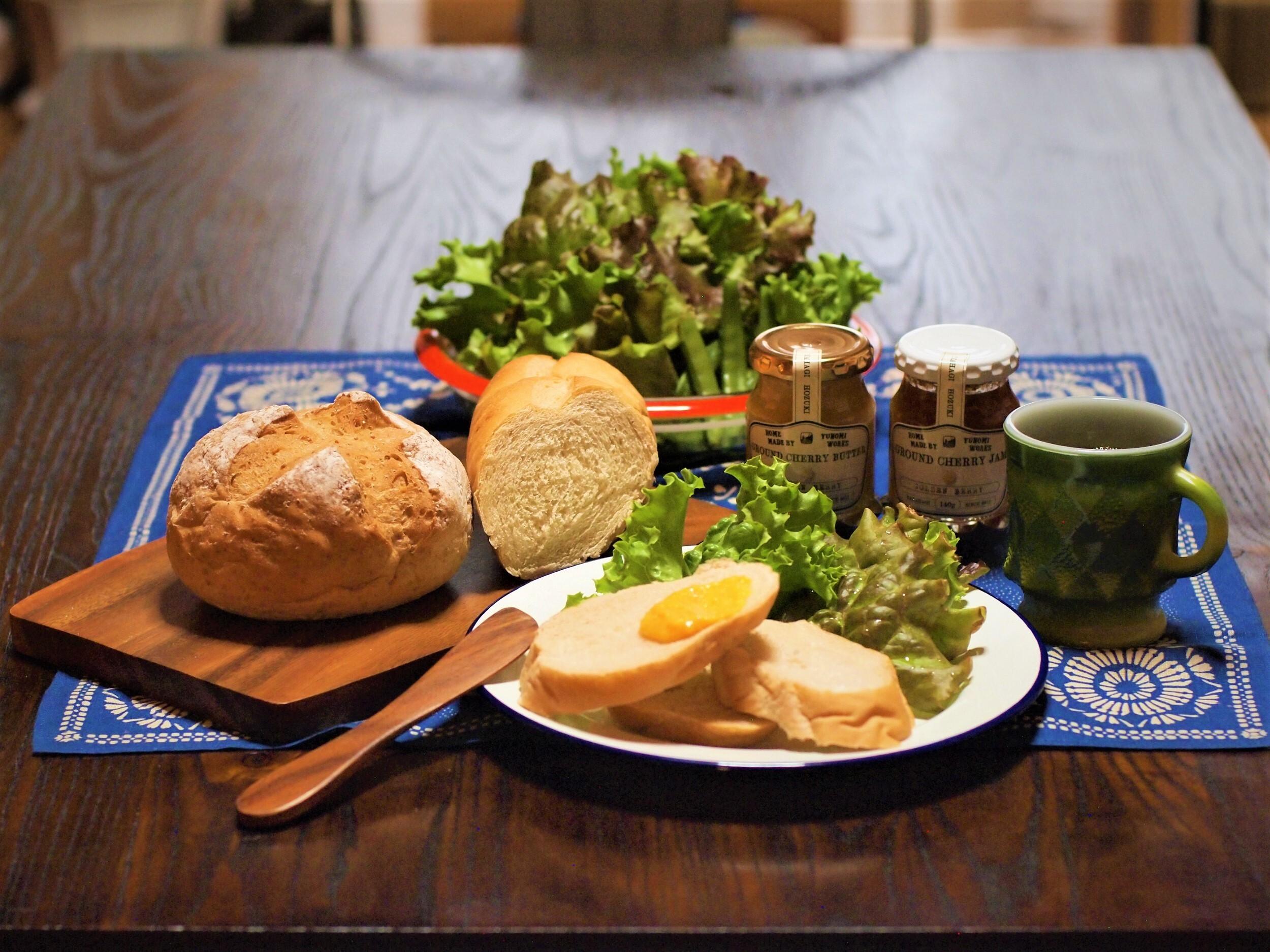 農薬・化学肥料不使用 旬のお野菜入り朝食セット (ほおずきジャム入り)