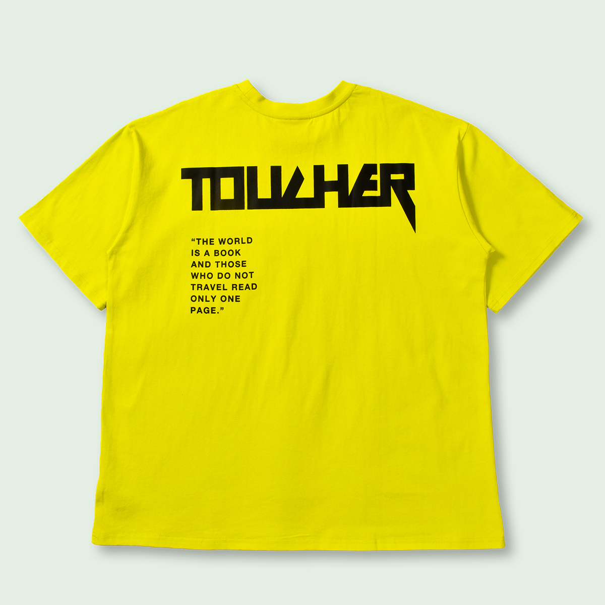 OVERSIZED TOUCHER SHORT SLEEVE TEE - YELLOW
