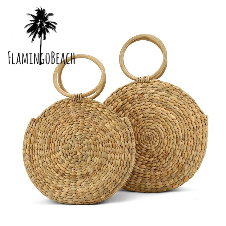 【FlamingoBeach】round bag カゴバック