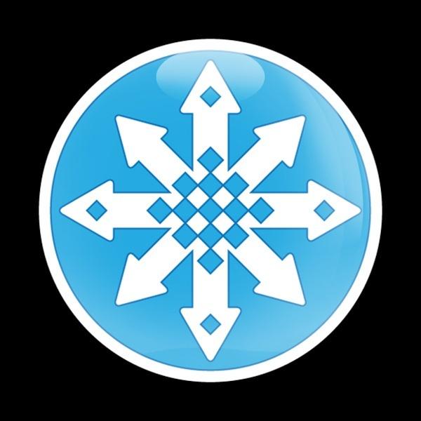 ゴーバッジ(ドーム)(CD0496 - Seasonal SNOW FLAKES) - 画像1