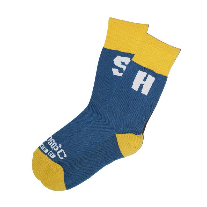 HANDSOME OXFORD × SURFSKATECAMP #College Socks Blue
