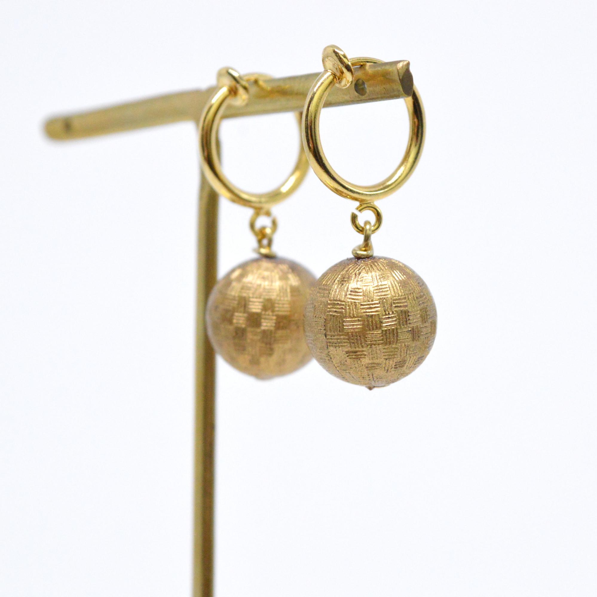 Plaid vintage Hoop Earrings