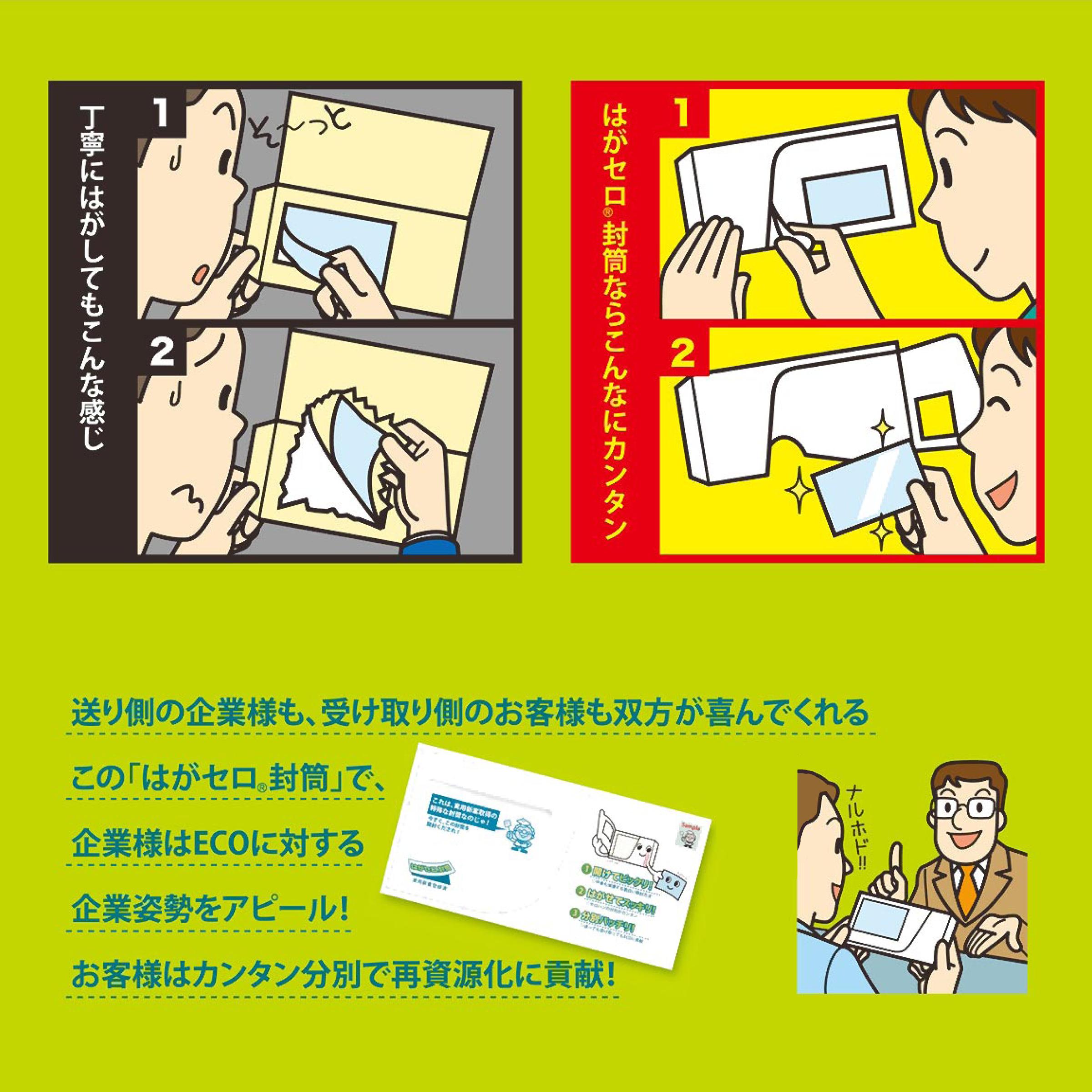 【はがセロ®】 長3封筒クラフト1,000枚入