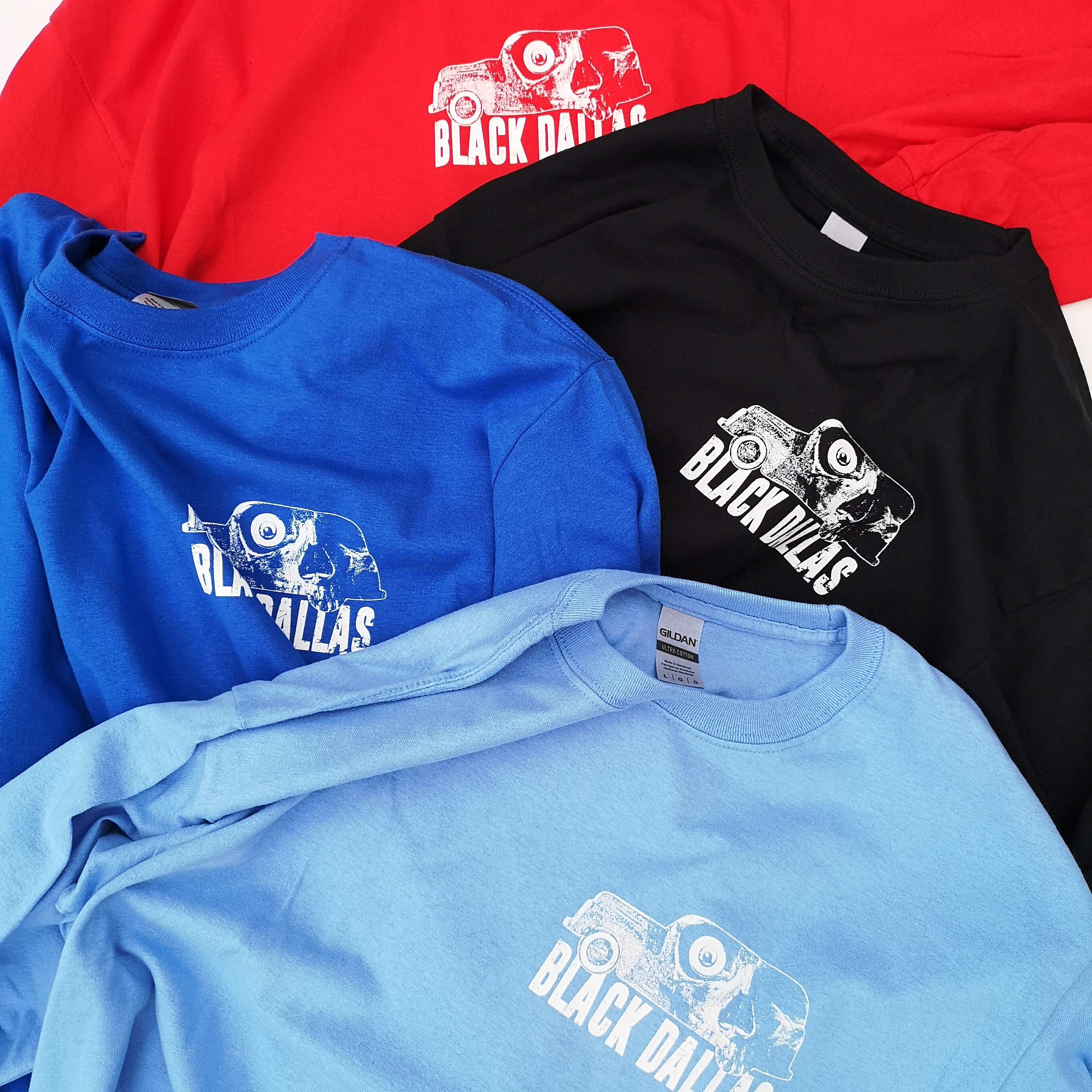 "BD ""DEATH WAGON"" LONG TEE BLK/BLU/SAX/RED"