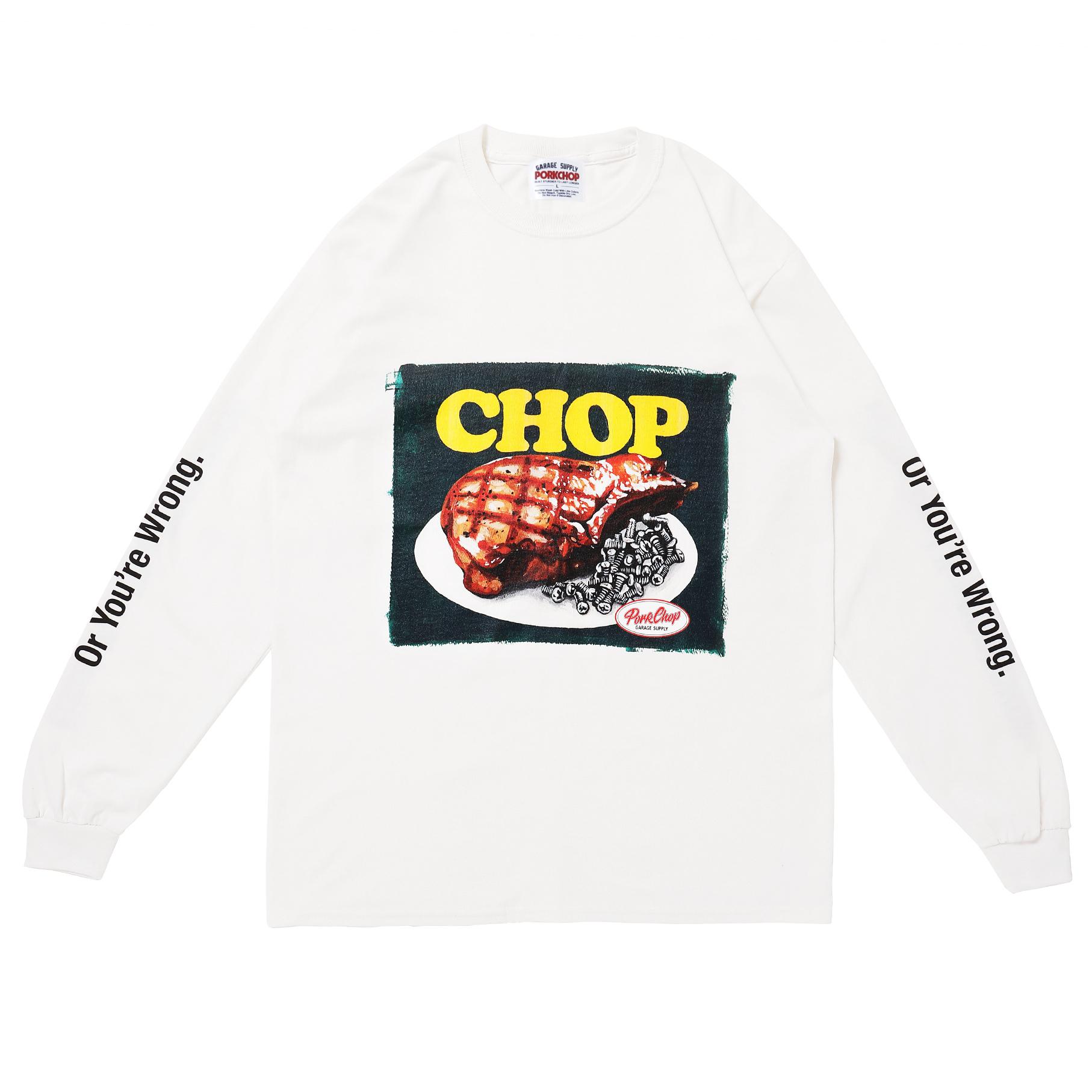 CHOP L/S TEE/WHITE