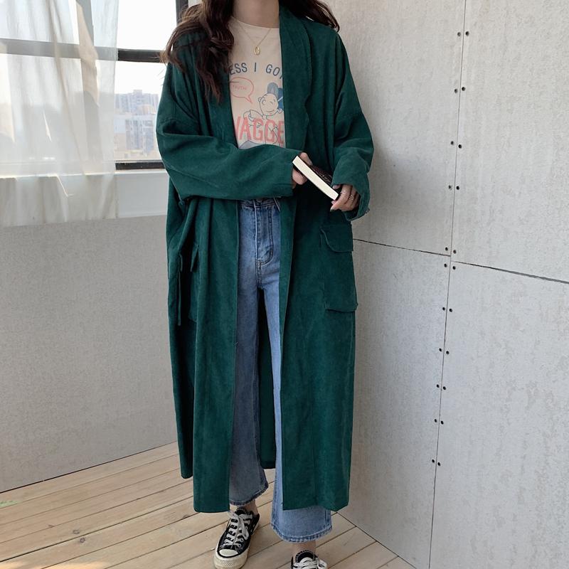 【送料無料】 大人可愛いコーデュロイ♡ ロング ジャケット コート アウター 秋冬 カジュアル シンプル