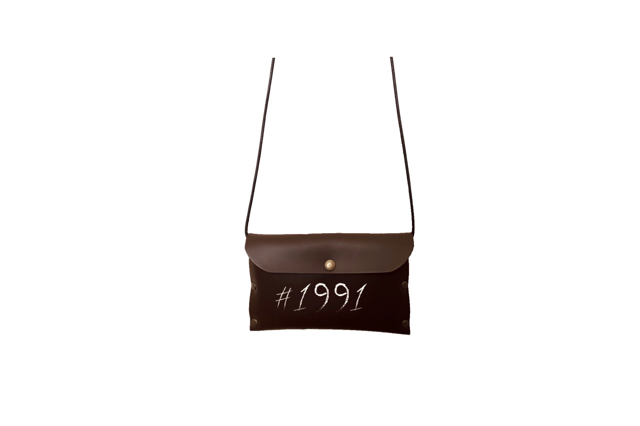 1991 leather mini side bag (BRWN) 期間限定
