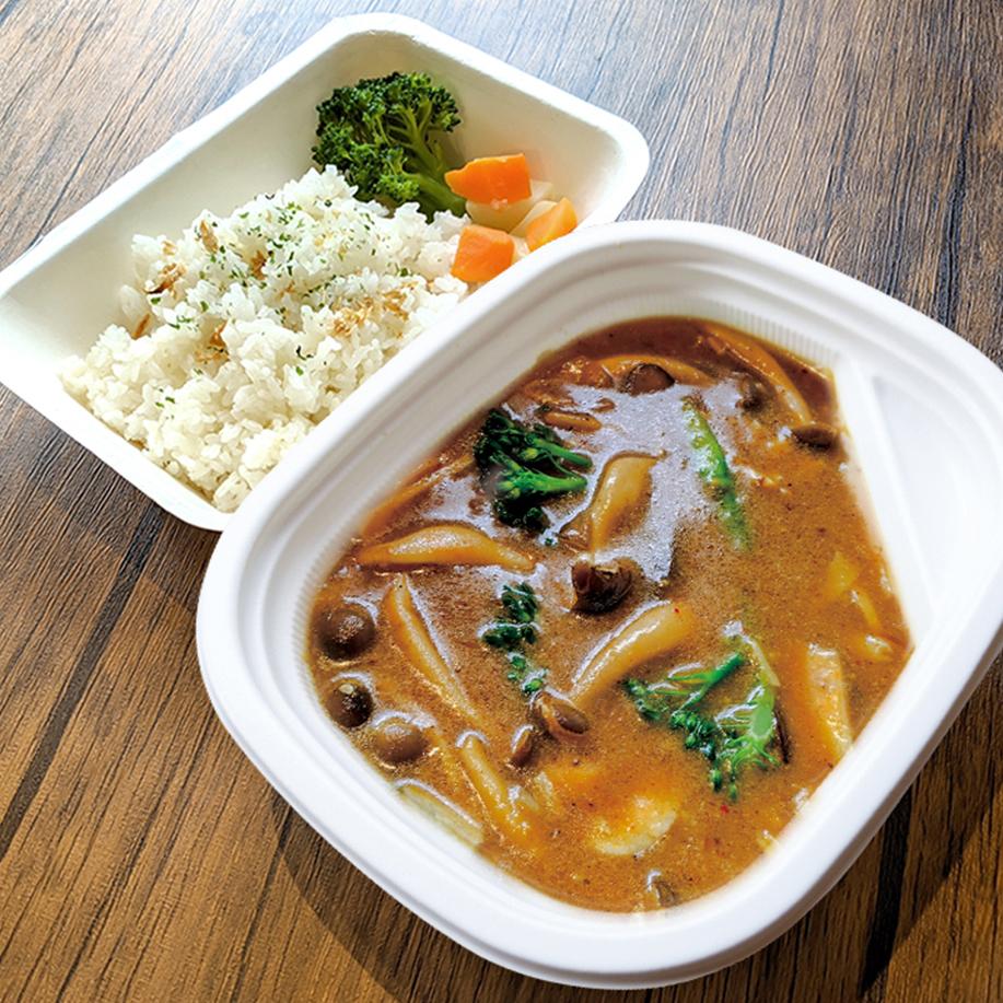 [ お弁当 ] きのこカレー / Mushroom Curry / 鮮菇咖哩便當