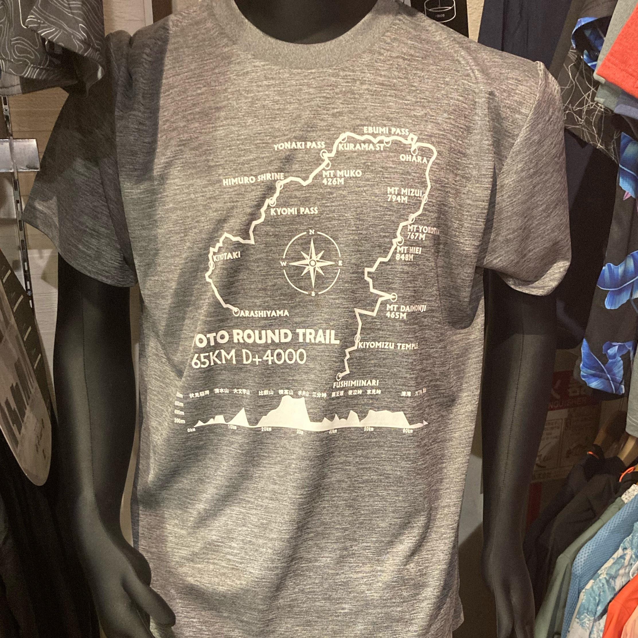 トレイルフェストオリジナル 京都一周トレイルTシャツ