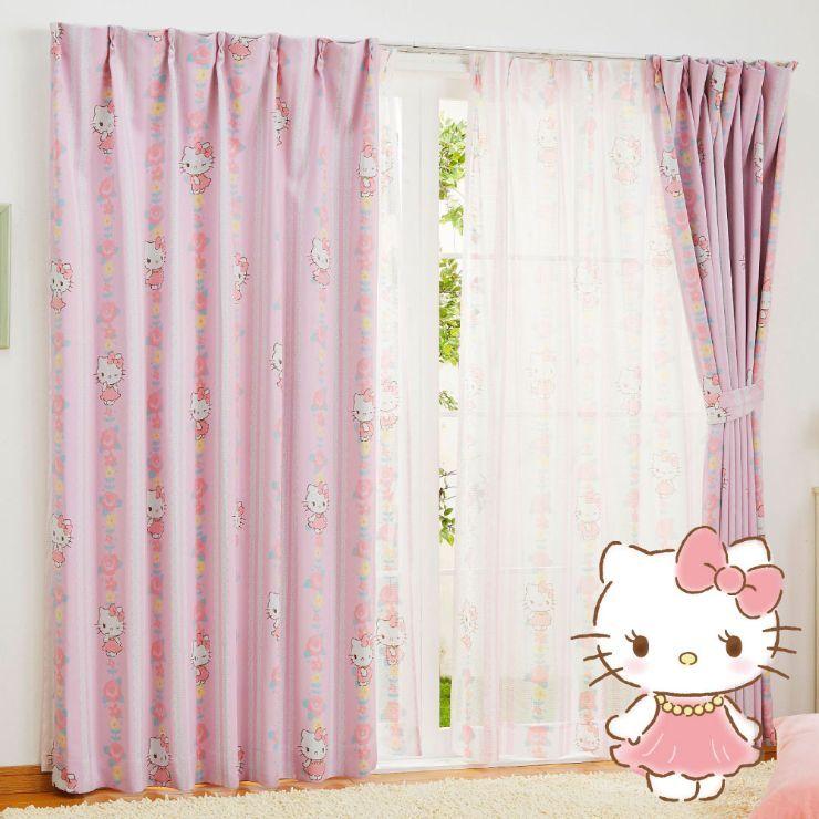 キティ 遮光カーテン (幅100×200cm丈)【送料無料】