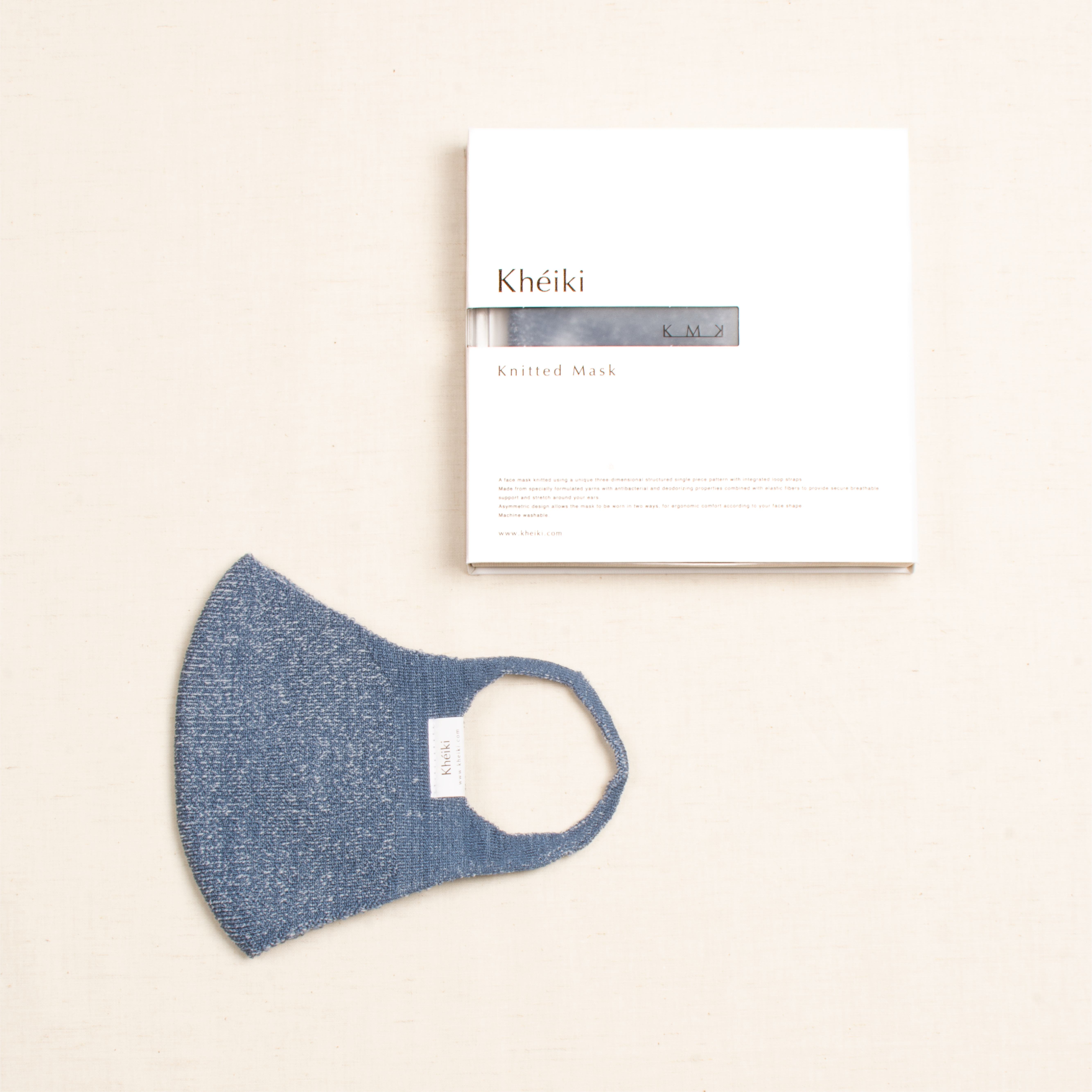 Knitted Mask 2pcs Set / KMK / #Lapis