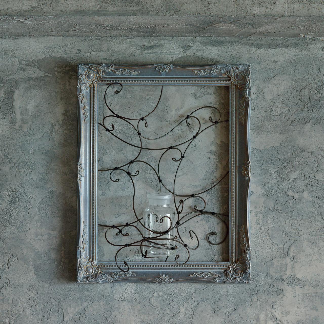 ローラン・ボーニッシュ「壁掛け用フラワーフレーム花器」