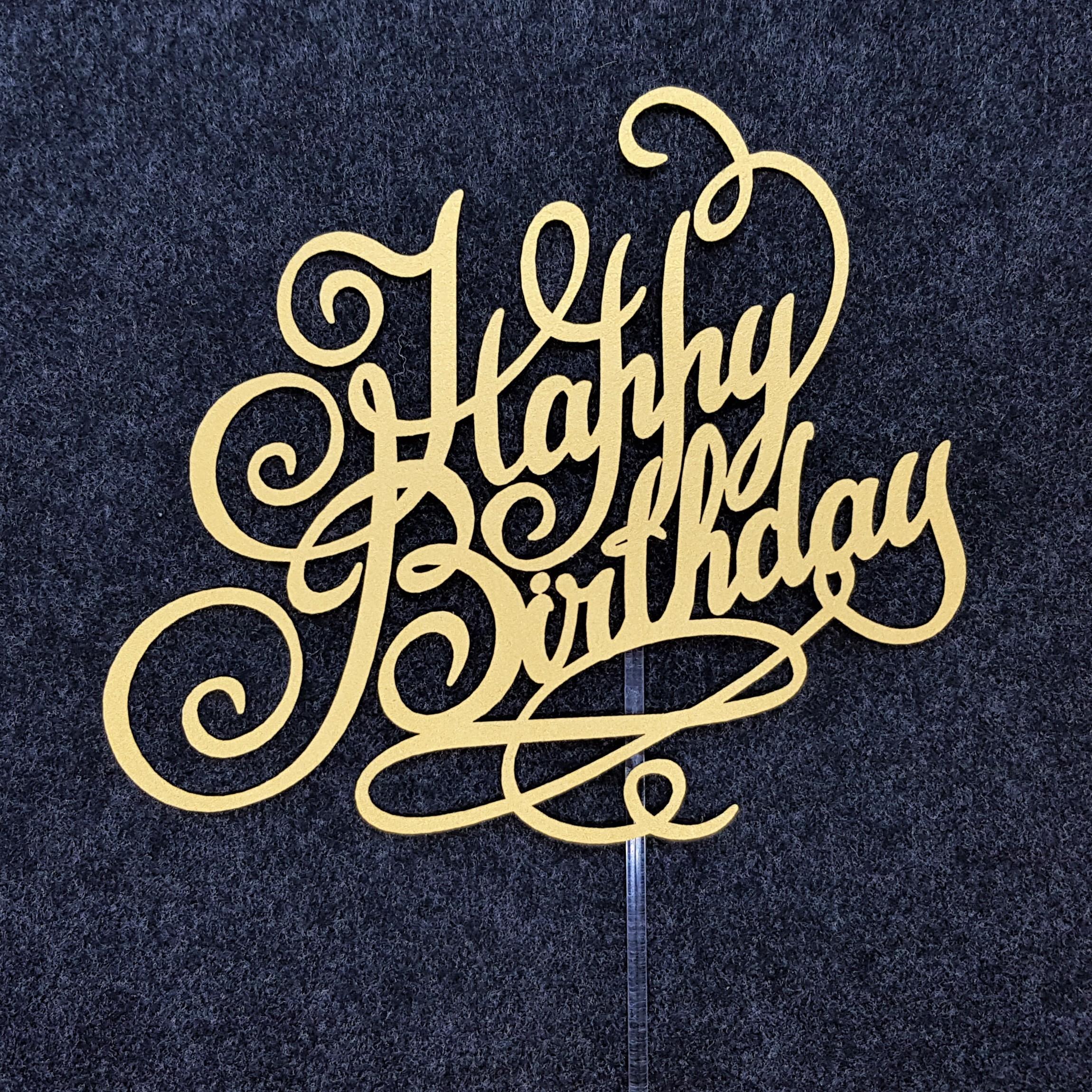 ケーキトッパー(誕生日07)‐Birthday topper‐