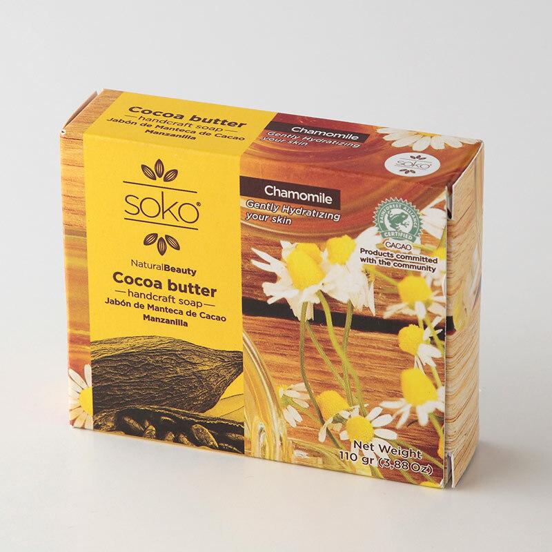SOKO カカオバター ナチュラル石けん 110g カモミール  p001184 お子様や敏感肌に