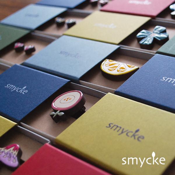 smycke 《フラワー B》塗り絵 木製パーツ