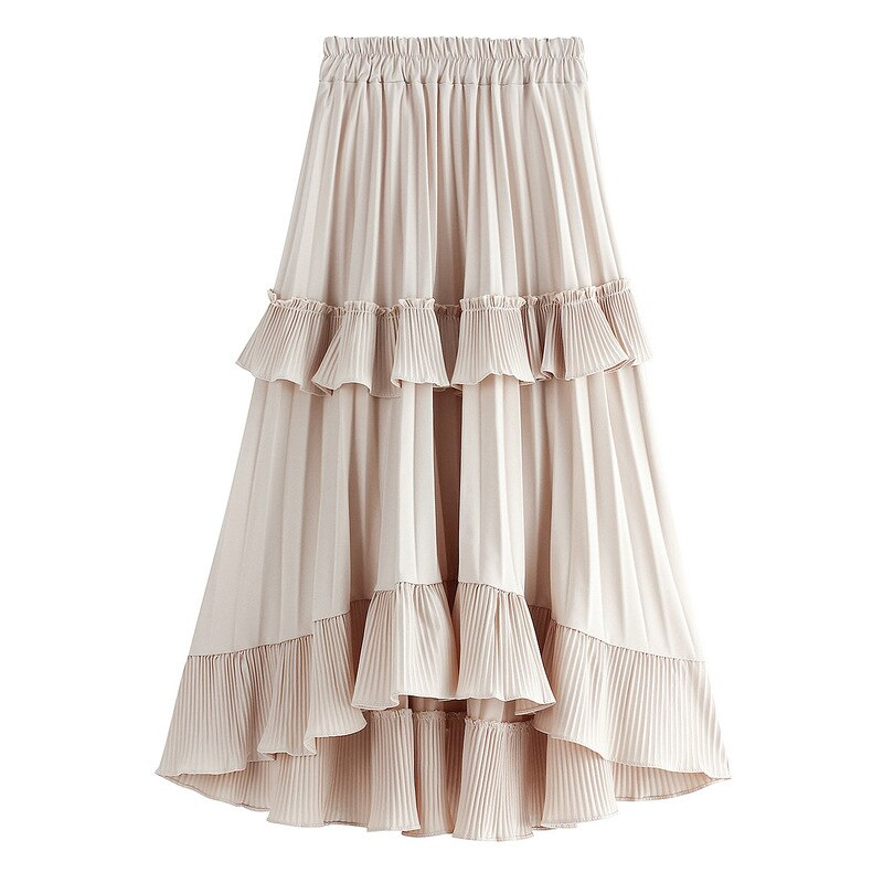 フリルプリーツスカート