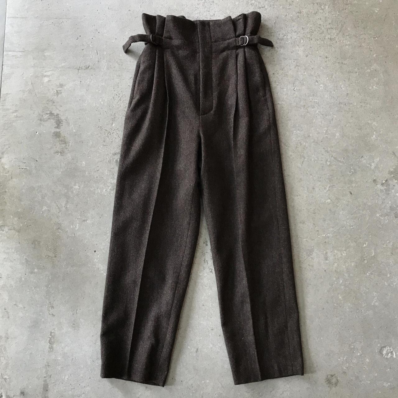 VillD - tweed high waist pants
