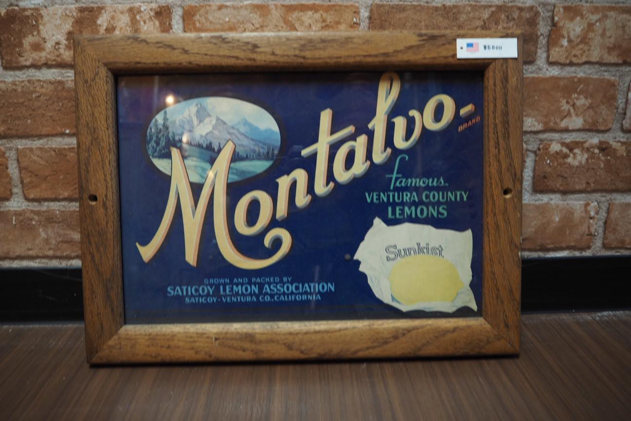 品番0094 ヴィンテージ ポスター 『Montalvo』 額装 011