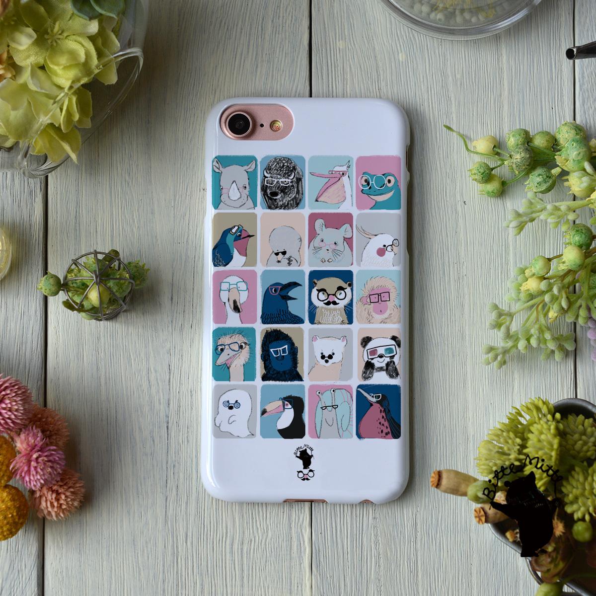 iphone8 ハードケース おしゃれ iphone8 ハードケース シンプル iphone7 ケース かわいい ハード めがね 眼鏡 メガネアニマル/Bitte Mitte!