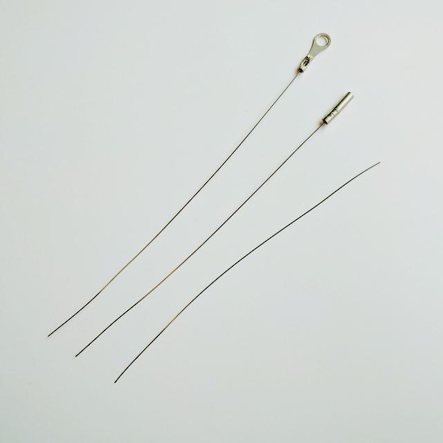 タングステン線 端子付き 0.2mm 10cm