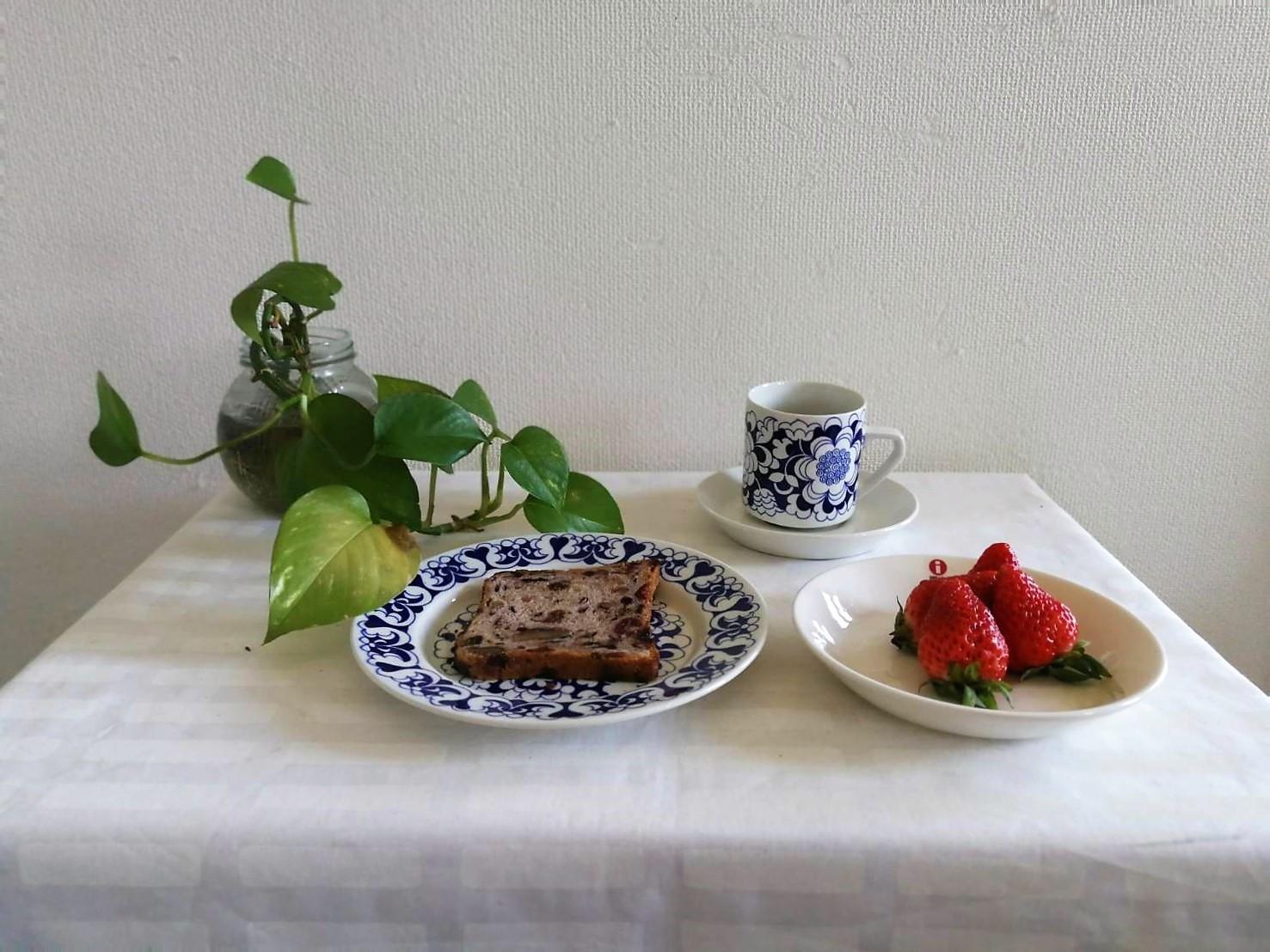 プレート / アラビア ヴィンテージ /Gardenia ガーデニア / 17cm (WHxBL)