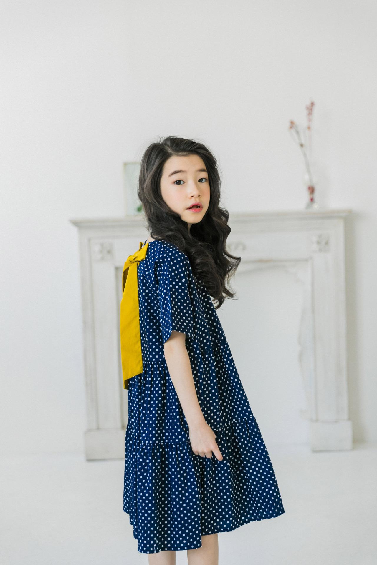 d77635498e9dd  韓国子供服風 女の子ワンピース キッズワンピース 中袖 ゆったり 子供ワンピース 女の子