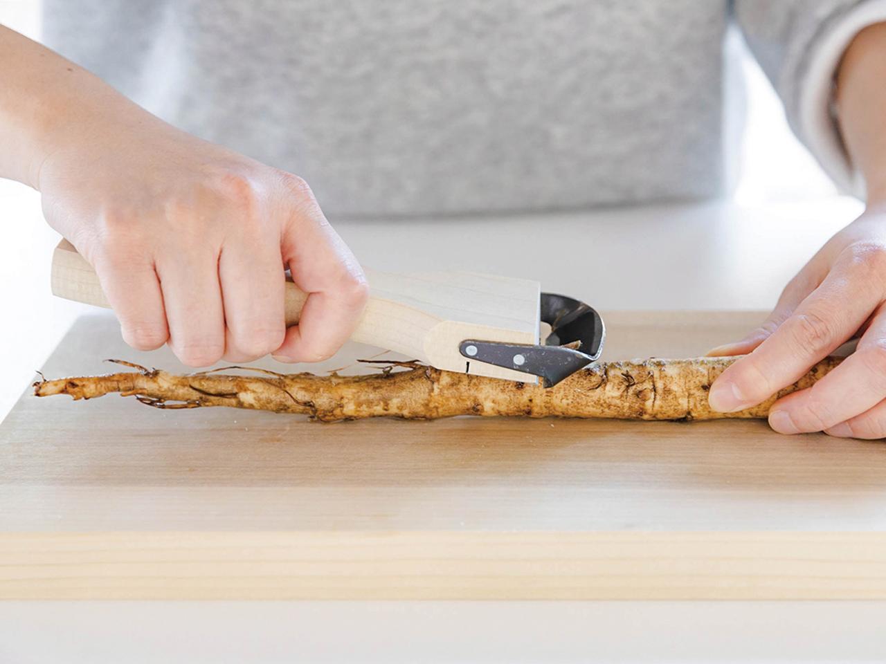 木製調理器 「きんぴらくん(太切り)」 ポストIN発送対応商品