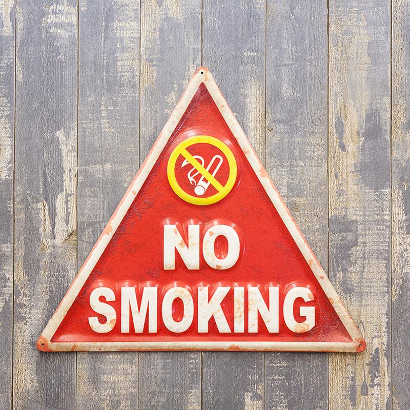 アメリカンメタルサイン「NO SMOKING/ノースモーキング」看板 ブリキ