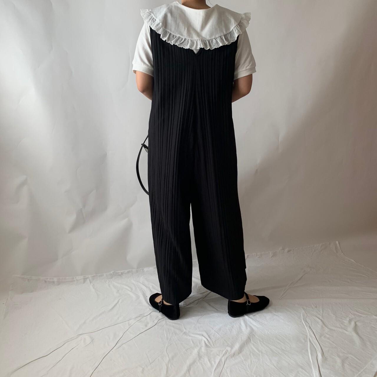 【asyu】pleats salopette