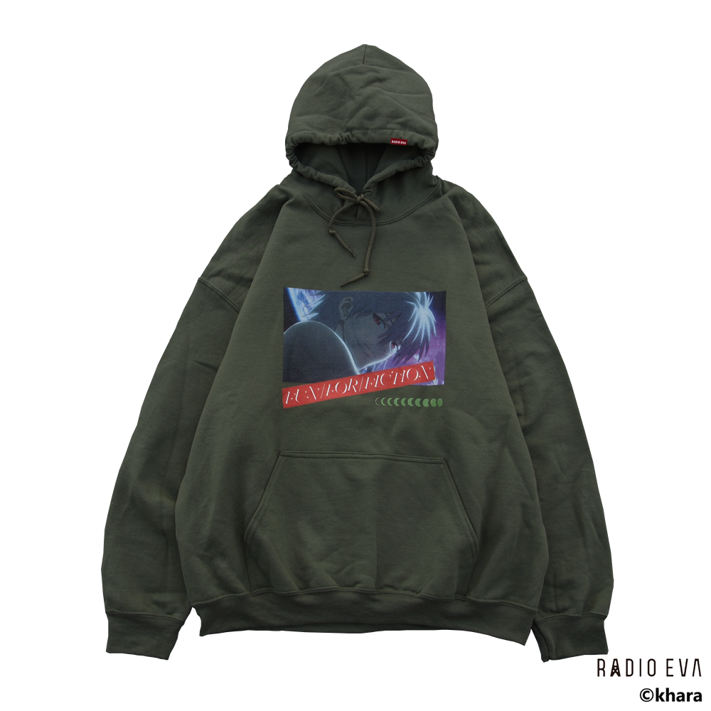 Kaworu MOON PULL PARKA (DARK GREEN)  /  RADIO EVA