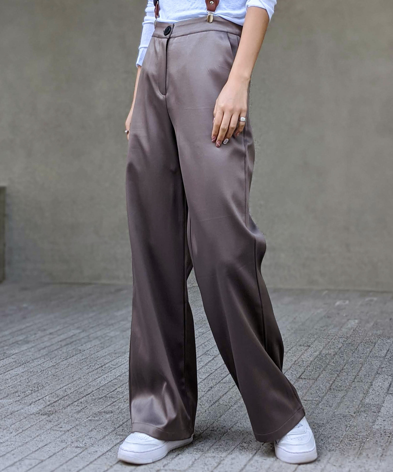 Luster flare pants