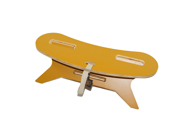 ブーメランテーブルMINI【MOUNTAIN】カラーキャメル(メラミン天板)山にも持っていける軽量サイズ アウトドア テーブル
