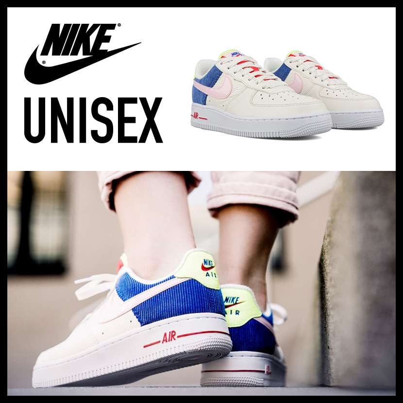 competitive price 6adf6 9e717 NIKE AQ4139 101(ナイキ)WOMENS AIR FORCE 1 LOW (エア フォース ワン) メンズ レディース スニーカー SAIL  ARCTIC PINK-RACER BLUE (オフホワイト ピンク ブルー)