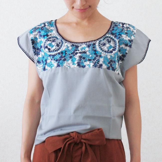 オアハカ刺繍ブラウス / S-M size /258/ MEXICO メキシコ