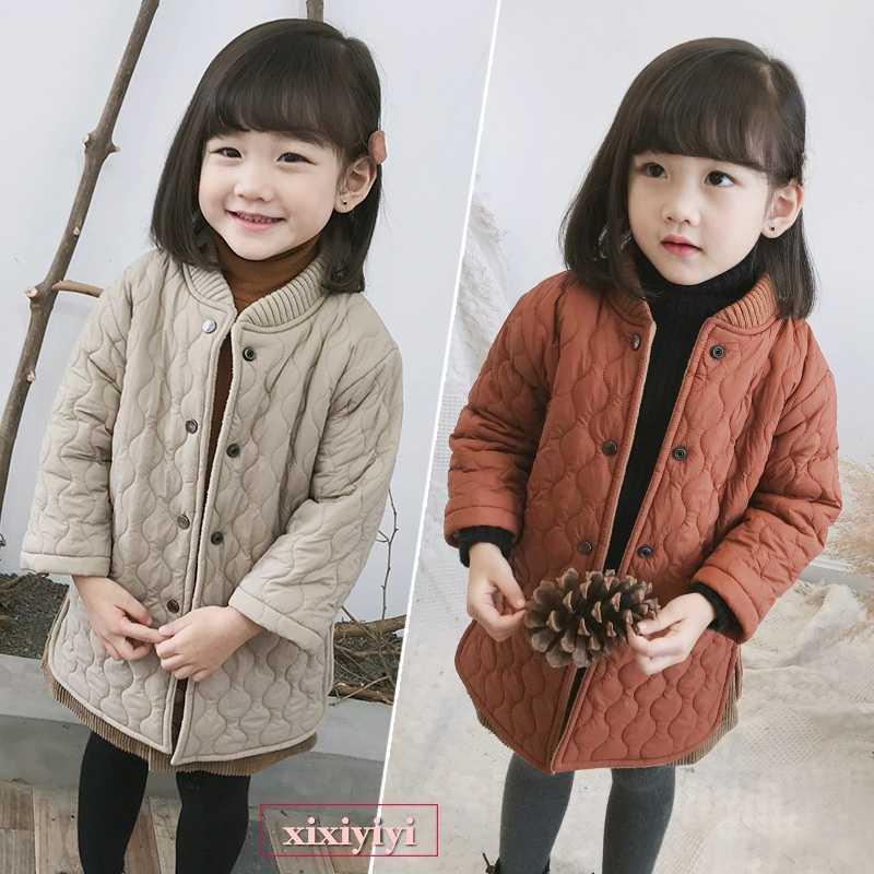 dc5ea13d6a00e  キッズ 暖かい キルティングコート  韓国子供服 オレンジ ベージュ コート 防寒 上着 子供